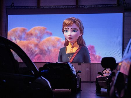 Bilde fra Drive-in kino i Mo i Rana