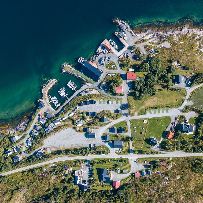 Dronefoto Polarcamp Nordland