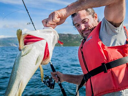 Foto av fisker på Polarcamp