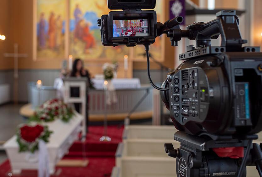 streaming av begravelse